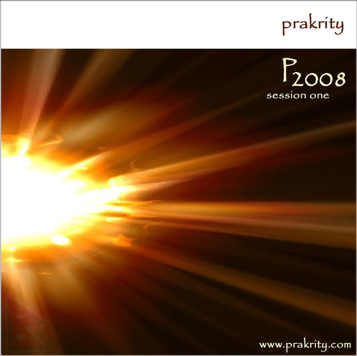 prakrity - p2008 session one -- cd cover - front