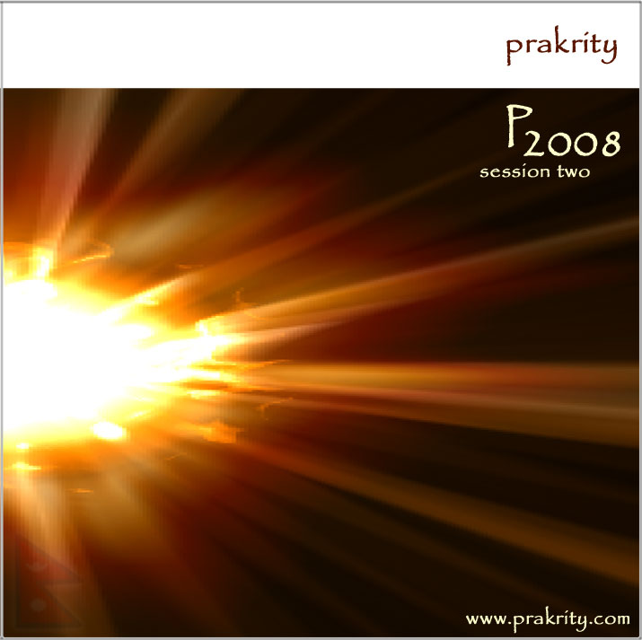 prakrity - p2008 session two -- cd cover - front