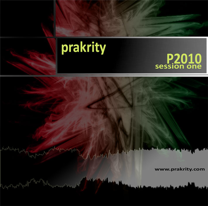 prakrity - p2010 session one -- cd cover - front