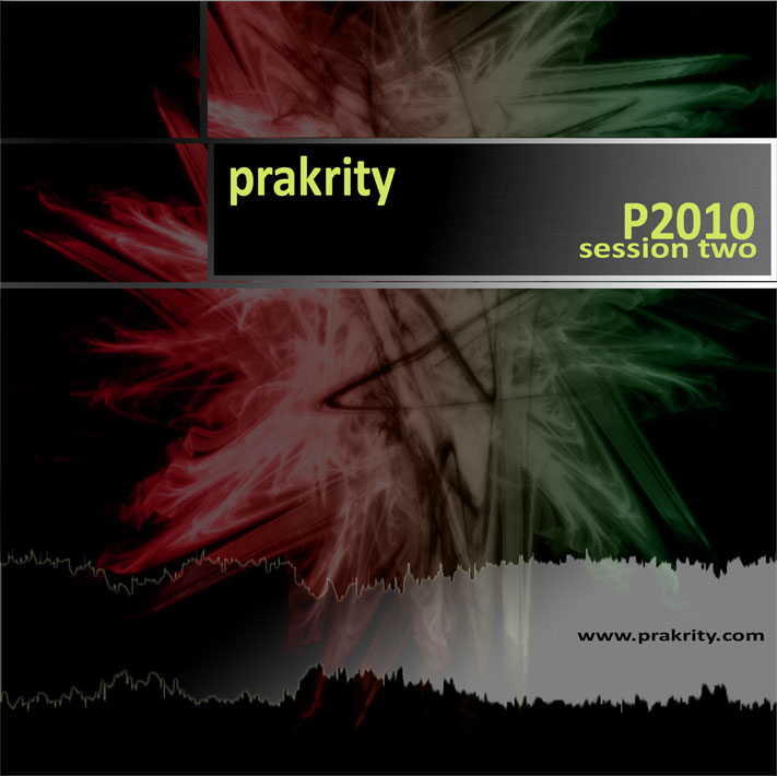 prakrity - p2010 session two -- cd cover - front