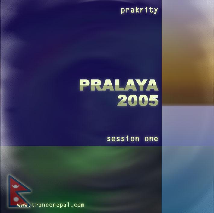 prakrity - pralaya 2005 session one -- cd cover - front